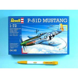 Plastic ModelKit lietadlo 04148 - P-51D MUSTANG (1:72)