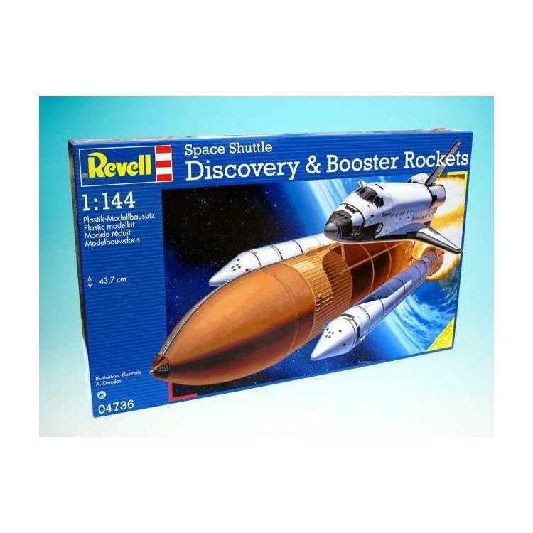 Plastic ModelKit vesmír 04736 - Space Shuttle Discovery+Booster Rockets (1:144)
