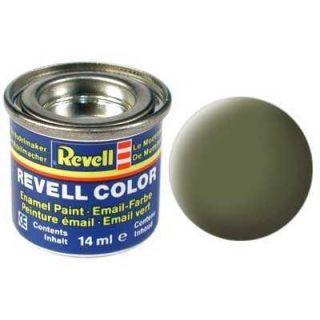 Farba Revell emailová - 32168: matná tmavo zelená (dark green mat RAF)