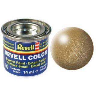 Farba Revell emailová - 32192: metalická mosadzná (brass metallic)