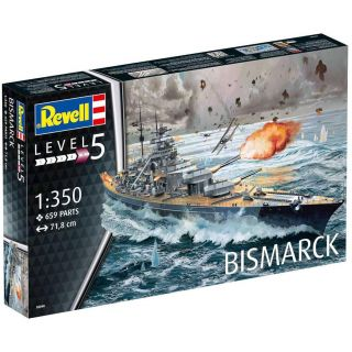 Plastic ModelKit loď  05040 - Battleship BISMARCK (1:350)