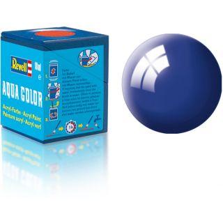 Farba Revell akrylová - 36151: leská ultramarínová modrá (ultramarine-blue gloss)