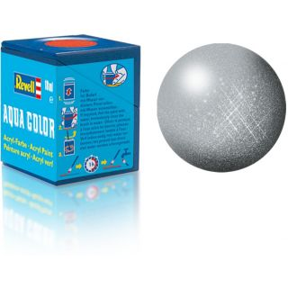 Farba Revell akrylová - 36190: metalická strieborná (silver metallic)