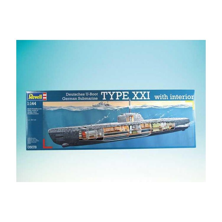 Plastic modelkit ponorka 05078 deutsches u boot typ xxi for Deutsches u boot typ xxi mit interieur