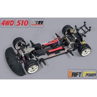 Drift 4WD 510 E RTR + BMW M3 E30 2mm čirá karoserie