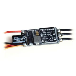 ULTRA 20A BL HELI SBEC 2-4S regulátor, s BEC konektor