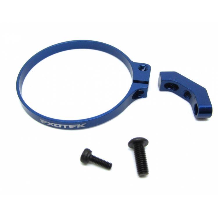 Hliníkový černý držák větráčku pro 1/10 Buggy, SC a Trucky, modrý