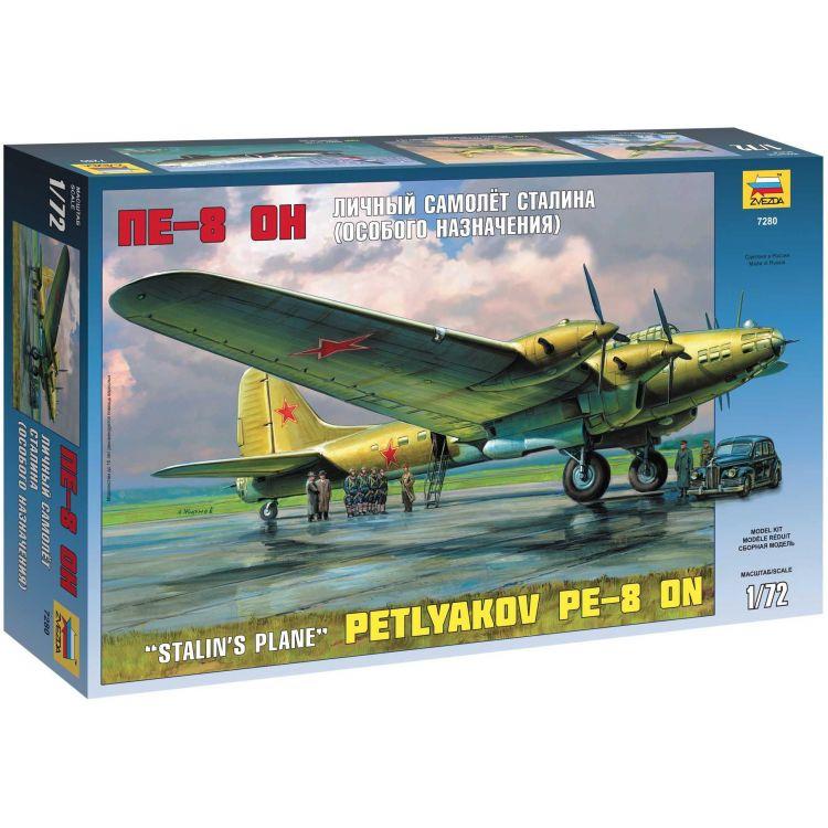 Model Kit letadlo 7280 - Petlyakov Pe-8 ON Stalin´s Plane (re-release) (1:72)