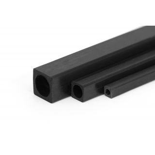 Uhlíkový hranol dutý s kulatým otvorem 8x8/6,5mm 1m
