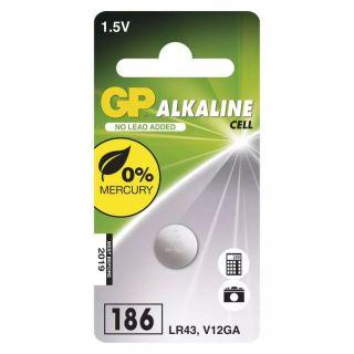 Alkalická gombíková batéria GP LR43 (186F) /ks