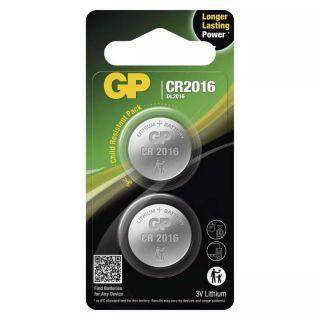 Lítiová gombíková batéria GP CR2016 /2ks