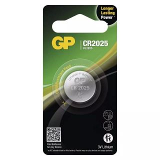 Lítiová gombíková batéria GP CR2025 /ks