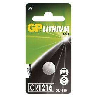 Lítiová gombíková batéria GP CR1216 /ks