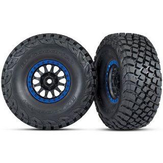 "Traxxas kolo 3.2/2.2"", disk Method Racing modrý, pneu Baja KR3 (2)"
