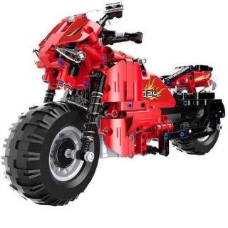 Motocykl RC stavebnice z kostek