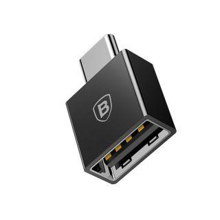 Baseus Exquisite USB-C to USB 2.4A Adapter (black)