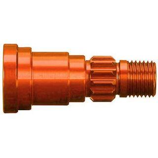 Traxxas hliníková hřídel kola oranžová (1) (pro NO7750X)