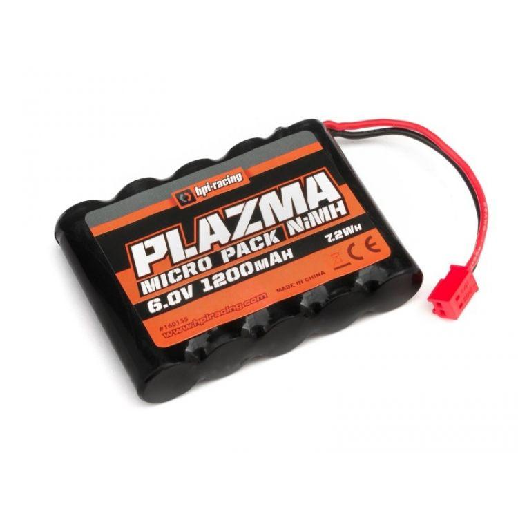 HPI Plazma Ni-MH 6,0V 1200mAh pro Micro RS4