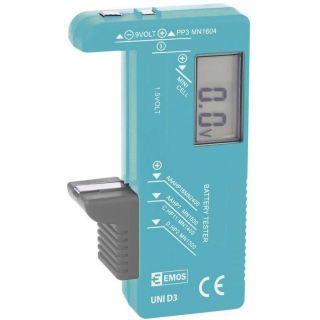 Univerzálny tester batérií  (AA, AAA, C, D, 9V, gombíkových)