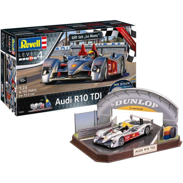 Gift-Set diorama 05682 - Audi R10 TDI + 3D Puzzle (LeMans Racetrack) (1:24)