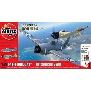 Gift Set letadla A50184 - Grumman F-4F4 Wildcat & Mitsubishi Zero Dogfight Double (1:72)