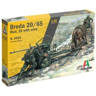 Model Kit military 6464 - HORSE DRAWN BREDA 20/65 W/SERVANTS (1:35)