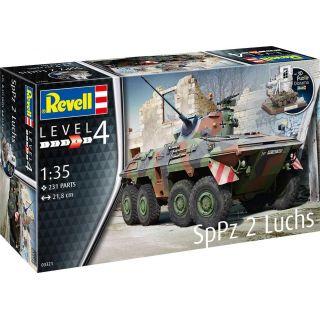 Plastic ModelKit tank 03321 - SpPz2 Luchs + 3D Puzzle diorama (1:35)