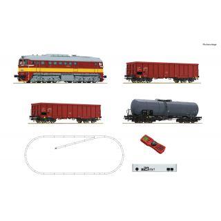 ROCO z21 start digital set: Dieselová lokomotíva T679.1 s nákladnými vagónmi, CSD