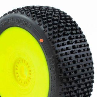 H-BLOCK V2 BUGGY C3 (MEDIUM) nalepené gumy, žluté disky (2 ks.)