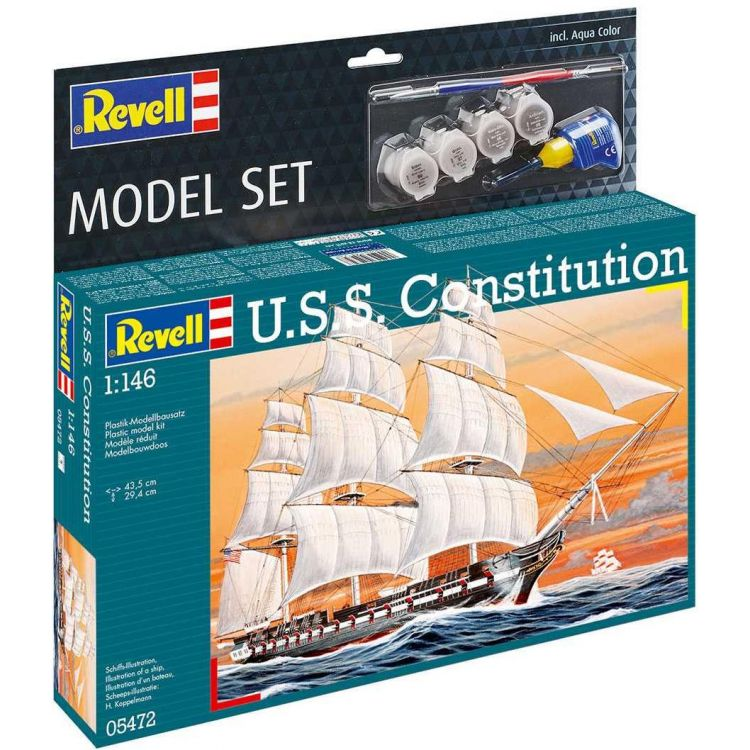 ModelSet loď 65472 - USS Constitution (1:146)