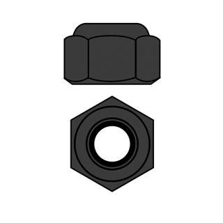 Hliníkové Nylon STOPmatky M3 - šedé - 10 ks.