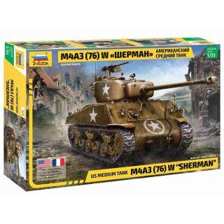 Model Kit tank 3676 - M4 A3 (76mm) Sherman Tank (1:35)