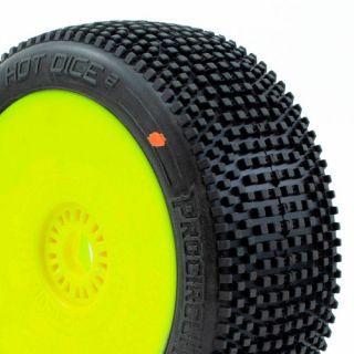 HOT DICE V2 BUGGY C3, (MEDIUM) nalepené gumy, žluté disky (2 ks.)