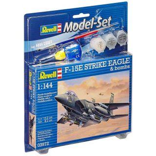 ModelSet letadlo 63972 - F-15E Strike Eagle & bombs (1:144)