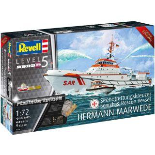 Plastic ModelKit loď 05198 - Search & Rescue Vessel HERMANN MARWEDE Platinum Edition (1:72)