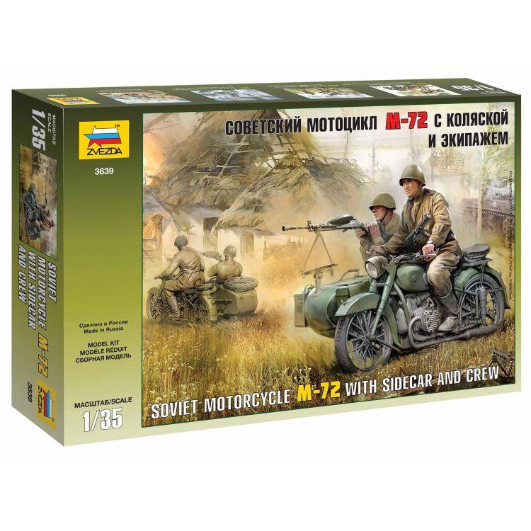 Model Kit figurky 3639 - Soviet WWII Motorcycle M-72 (1:35)
