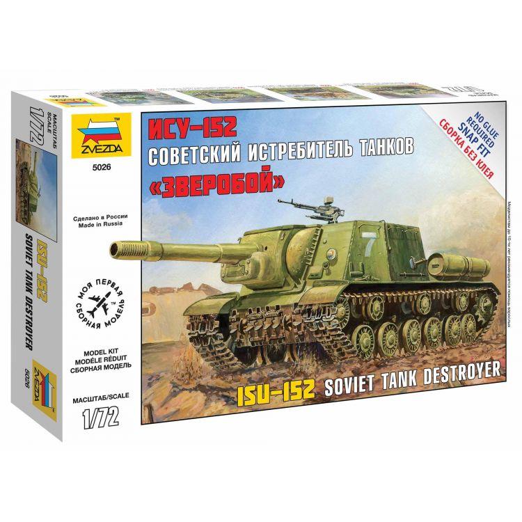 Snap Kit military 5026 - Self Propelled Gun ISU-152 (1:72)