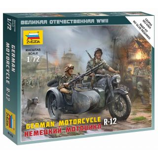 Wargames (WWII) military 6142 - German Motorcycle R-12 (1:72)