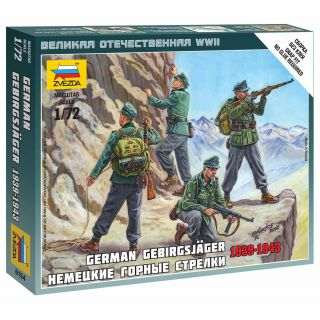Wargames (WWII) figurky 6154 - German Gebirgsjäger (1:72)