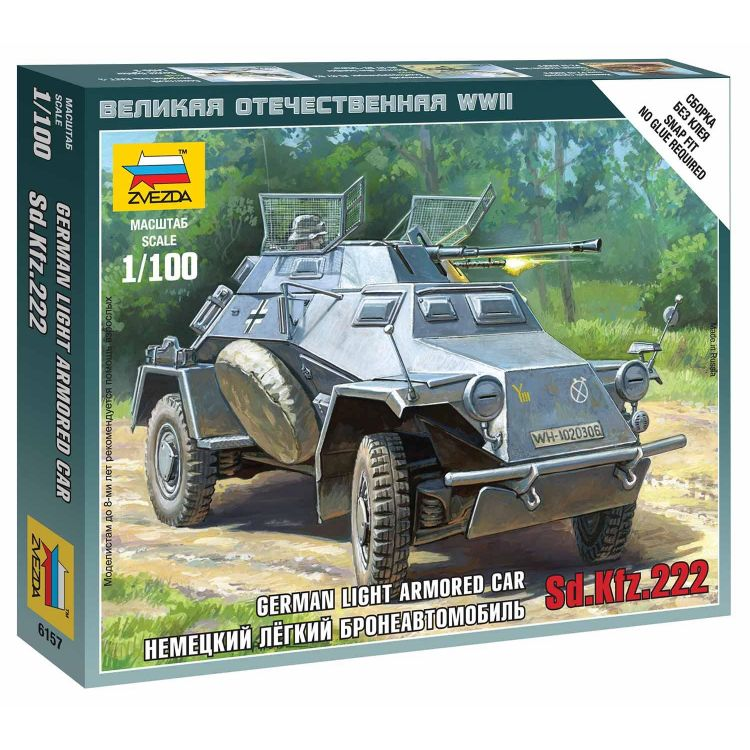 Wargames (WWII) military 6157 - Sd.Kfz.222 Armored Car (1:100)
