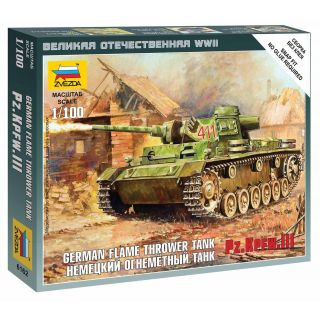 Wargames (WWII) tank 6162 - Panzer III Flamethrower Tank (1:100)