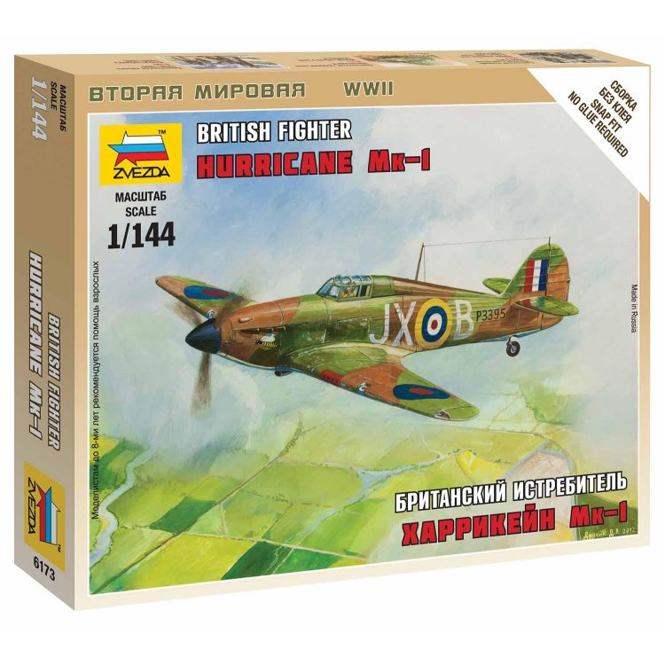 """Wargames (WWII) letadlo 6173 - British Fighter """"Hurricane Mk-1"""" (1:144)"""
