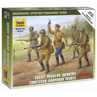 Wargames (WWII) figurky 6179 - Soviet Regular Infantry 1941-42 (1:72)