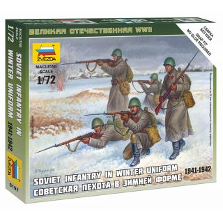 Wargames (WWII) figurky 6197 - Soviet Infantry (Winter Uniform) (1:72)