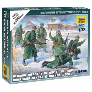 Wargames (WWII) figurky 6198 - German Infantry (Winter Uniform) (1:72)