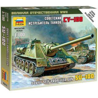 Wargames (WWII) military 6211 - Self-propelled Gun SU-100 (1:100)