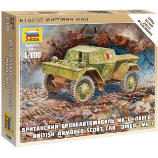 Wargames (WWII) military 6229 - British Armored Car Dingo (1:100)