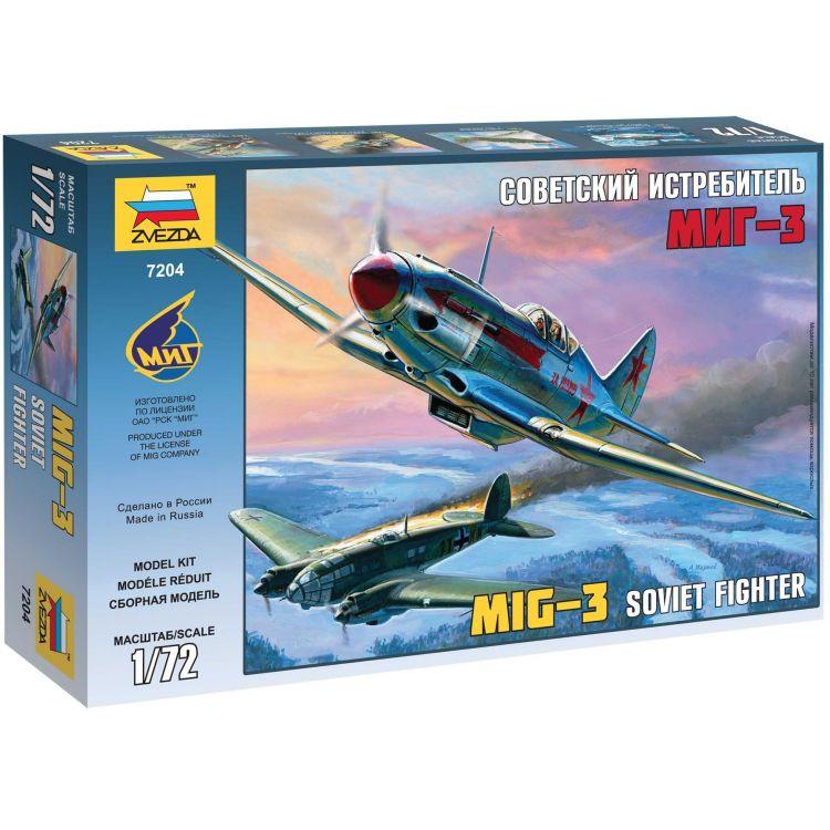 Model Kit letadlo 7204 - MIG-3 Soviet Fighter (1:72)