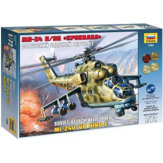 Model Kit vrtulník 7293 - MIL MI-24V/VP Hind E (1:72)