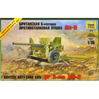 Model Kit military 3518 - British Anti-Tank Gun QF 6-PDR MK-II (1:35)
